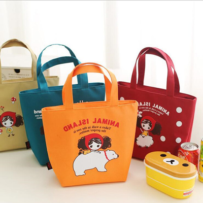 Email Korean cute insulated lunch bags, girls portable insulated lunch box  bag canvas aluminum lunch