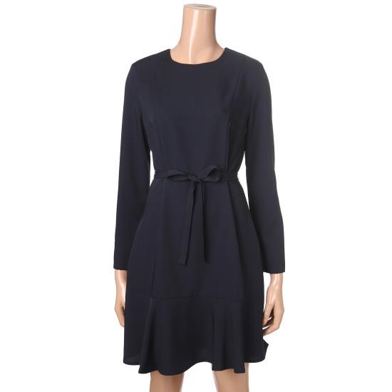 バンエイクの裾フレアワンピースJV69OPM201A 面ワンピース/ 韓国ファッション