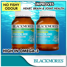 1 + 1 400 CAPS+ 400CAPS!! FREE SHIPPING!!! BLACKMORES Odourless Fish Oil 1000 400caps x 2 BOTTLES