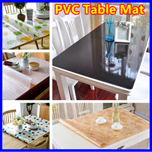 【Customize any size/PVC Tablecloth】Waterproof Frosted ★Soft Glass Transparent Tea ★Coffee Table Mat