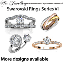 Embellished with Crystals from Swarovski®- Her Jewellery Rings Series VI - SG Seller - Ready Stock