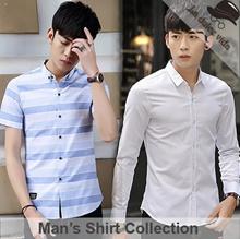 New Arrivals ●Men Shirts● Design By Korea / Work Shirts / Office Shirts / Plus Size / Sleeve