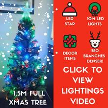 *2017 * 1.5M TALL XMAS TREE *  LED STAR / 10M LED LIGHTS / DECOR ITEMS *