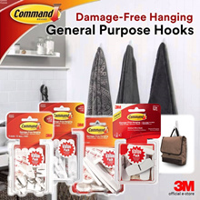 [Official E-Store] Command® Hooks Value Pack (Various Sizes) - Non-Permanent / Removable / No Wall