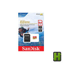 Sandisk 64GB MicroSD | Extreme 60MB/s Micro Class 10 for Action Camera
