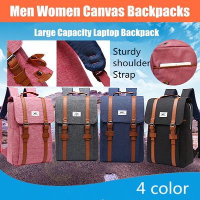Men Women Canvas Backpacks School Bags for Teenagers Boys Girls Large  Capacity Laptop Backpack 0c8443bf100f9