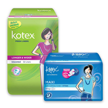 Kotex Fresh Liner Longer Wider Unscented (32 pcs) Smooth Maxi Plus Wing (8