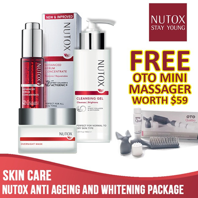 Nutox Anti Ageing + Whitening package Free OTO Mini Massager worth $59