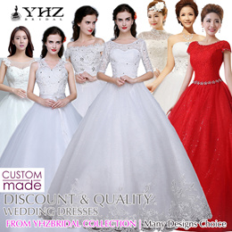 Cheap Wedding Dress Ivory Wedding Gown Plus Size Tailor-Made Bridal Gowns Red Bridal Dresses