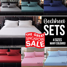 【GSS SPECIAL】900TC Plain Dyed Bedsheet Sets★Solid Colour★Premium Cotton★Soft to the Touch materials!