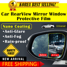 NEW!Nano Coated Anti-Fog / Anti-Glare / Waterproof Sticker NO MORE Blurred or Foggy Side Mirrors!