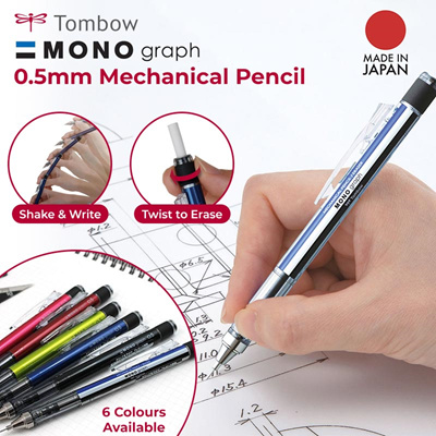 japan import HB Tombow Mono 100 Hexagonal Wooden Body Pencil Pack of 12