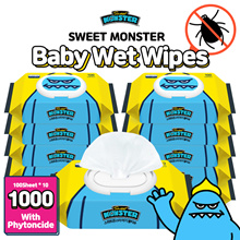 (Ready stock in SG) 2019 Sweet Monster Baby Wet wipes 10 packs ★Phytoncide/expired on Jul 2021
