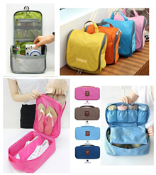 Multipurpose Travel Organizer/ Toiletries Bag/ Foldable Bag/ Shoe Bag/ Toiletries Bag/ Undergarments Bag/ Bathroom Organizer/ Foldable Travel Bag/ Wall Decal
