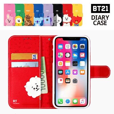 【BT21 x LINE FRIENDS】 BTS BangTan iPhone Galaxy Diary Case GIFT!