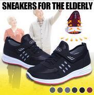 [Buy 2 Free Shipping]UntiSlip Elderly Shoe For elder Soft Bottom Sports Shoes Lightweight Breathable