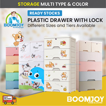 (Korea Living) Multi Plastic Cabinet Drawer Storage Rack Table Chair with lock Usual Price $121