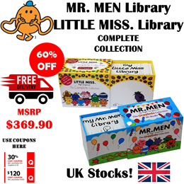 Mr Men Miss Little Library Complete Collection 50+37 Books Gift Set