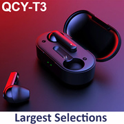 QCY T1 / T1 Pro / T2C / T3 Bluetooth 5.0 TWS Headphones Sweatproof Nose Cancellation mini Wireless