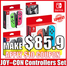 [Nintendo Switch] JOY-CON Controllers Set / Neon Red / Blue / Neon Green / Pink / Smash Bros Control