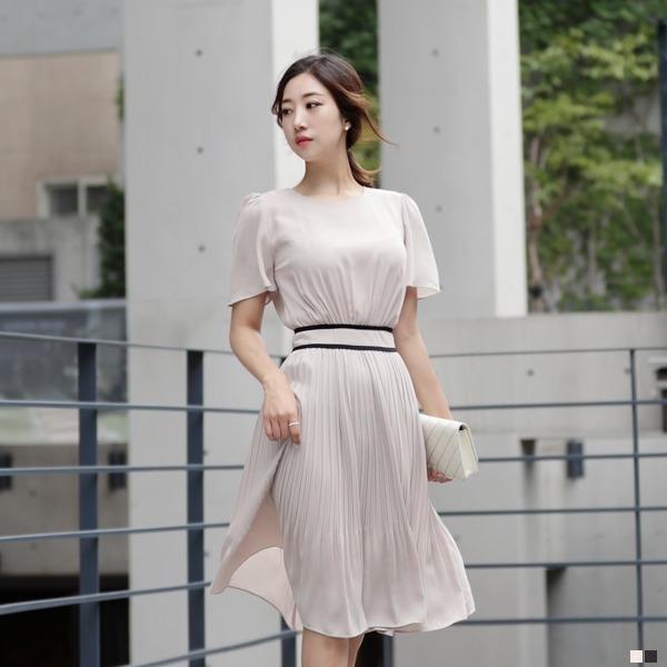 シフォンオードリー・ワンピース70702 new フレアワンピース/ワンピース/韓国ファッション