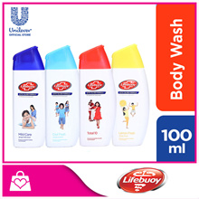 [Lifebuoy] Anti-Bacterial Body Wash 100ml (Cool Fresh/ Lemon Fresh/ Mild Care/ Total 10)