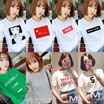 No Option Price ~ BUY 5 IN 1 SHIPPING ~ Korea Trendy/Fashion/Comfort Ladies Top in Multi Design/ T-Shirt