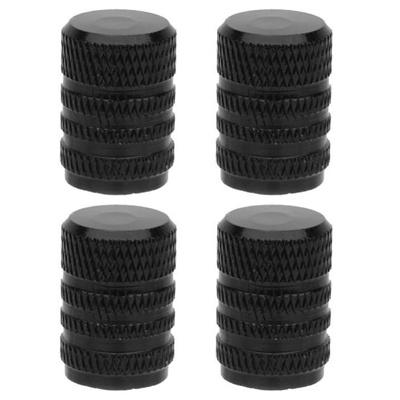4pcs Motorcycle Bike Car Alloy Tire Tyre Wheel Valve Stem Dust Caps Cover Black