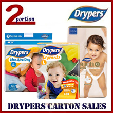 [FREE PORORO TOY + FREE SHIPPING] DRYPERS WEE WEE DRY/DRYPANTZ/TOUCH BABY DIAPERS