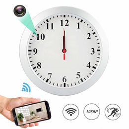 1080P WiFi Spy Hidden Camera Wall Clock Motion Detection Video Camera Remote View Camcorder Baby Pe