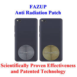 Fazup (Silver or Gold Single Pack) Anti Radiation Patch for Smartphone or Tablet