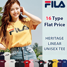 [FILA] 16Type Unisex Linear Logo Short Sleeve T Shirt / 100% Authentic