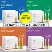 5 TYPES ♥ 28 DAYS RENEWAL AMPOULE ♥ HYALURONIC ACID ♥ FULLERENE ♥ NICOTINAMIDE ♥ OLIGOPEPTIDE ♥