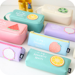 [Fruits Pencil Case] Fruits Pencil Case * Stationary * Container * Pouch * Cute