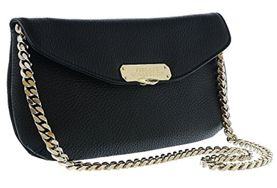 (Versace) Versace Collection Women Pebbled Leather Clutch Handbag  Black-HB-11333 c60fac26a171f