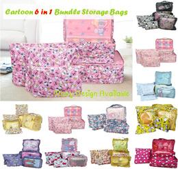 98acc8eef037 Hello Kitty Travel 6 in 1 Storage Bag 💖 Bedsheet Bra Shoe Travel Toiletry  Luggage