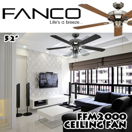 FANCO FFM 2000 Signature Ceiling Fan 52Inch / Available in assorted colours / With 1 Year Warranty
