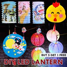 Buy 5 Get 1 FREE ! Lanterns DIY LED Lanterns Mid Autumn Festival Moon Cake Festivals Chinese Lantern