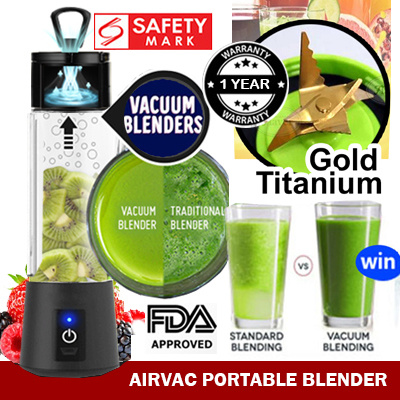 ⏰ 10% OFF ★ ▶New Gen ◀★Blend Ice★ 6 Blade Gold titanium Fruit Juicer★Extractor★Blender★ USB Charge