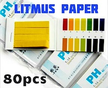 Best Selling Litmus Paper 1 Pack  80 Strips pH 1-14)Check On Food Drink Fish Tank Buy More Save More
