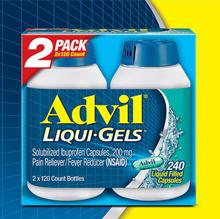 Costco Advil Liqui-Gels Ibuprofen 200 mg. 240 Capsules