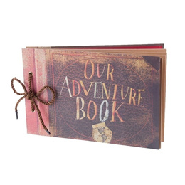 My/Our Adventure Book Scrapbook Photo Album Expandable Album 11.6x7.5 Inches 80 Pages with Photo