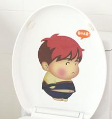 2/set Household cartoon lazy corner bathroom toilet stickers wall stickers home decoration bathroom waterproof wall stickers 62833