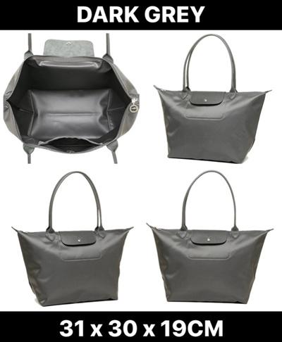 ?SALE?Longchamp Le Pliage Neo Long Handle Large Dark Grey 1899 578 112