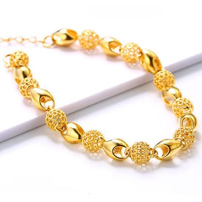 24k Real Gold Bracelets Dipped