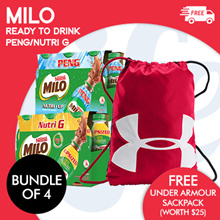 [NESTLE]  MILO® PENG AND NUTRI G [6x225mx2l]  Buy 4 Cluster FREE under Armour Sackpack (Worth $25)!!
