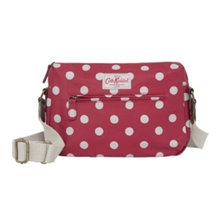 ★Cath Kidston★100%Authentic  Cath Kidston / bag / bag / [free shipping] DOUBLE ZIP BAG MATT COATED BUTTON SPOT CRANBERRY CK-BB416672 /