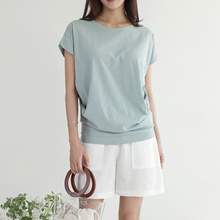 [CHICHERA] Korean fashion NO.1 / Secret shirring tee.A