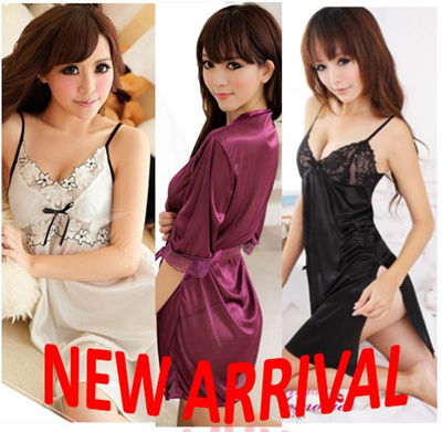 767f18883e  SALE  Women Pretty Pajama Sexy Lingerie cute sleepwear nightgowns kimono  silk pajama bath robes