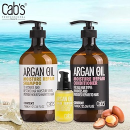 Cabs Professional Argan Oil Moisturizer Repair Shampoo and Conditioner (500ml) | Best Selling at LZD